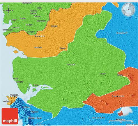 loyang loko 3d by cast political 3d map of port loko
