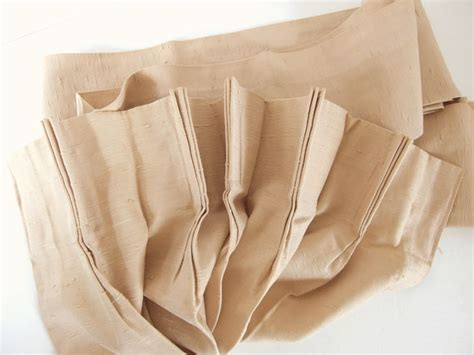 antique satin drapes vintage tan beige antique satin pleated drapes 1 panel