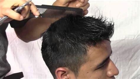 corte de pelo con tijera para caballero corte milim 201 trico para caballero youtube