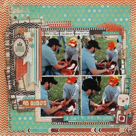Scrapframe Scrapbook Layout A Day To Remeber 109 best images about bo bunny layouts on