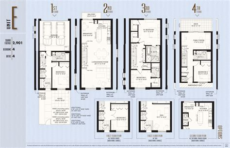 Townhome Floorplans union row townhomes four townhomes left at union row in