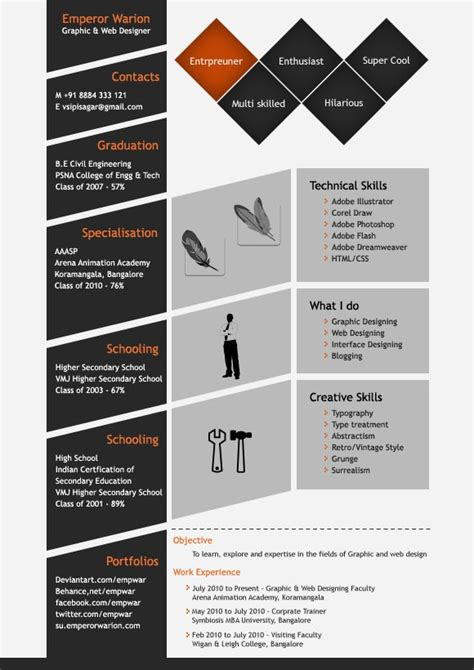 design cv photoshop 201 best werk creatief cv en infographic images on