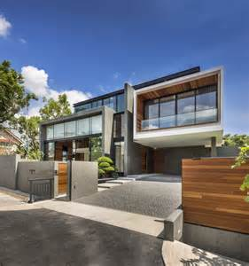 contemporary home evoking a warm rustic feel mimosa road in singapore freshome com