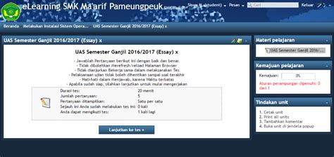tutorial ujian online tutorial penggunaan e learning ujian tes online essay