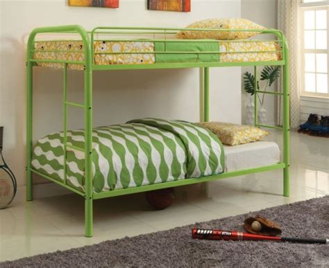 Organic Bunk Bed Mattress by Furniture Of America Rainbow Metal Bunk Bed Green Cm Bk1032 Ag