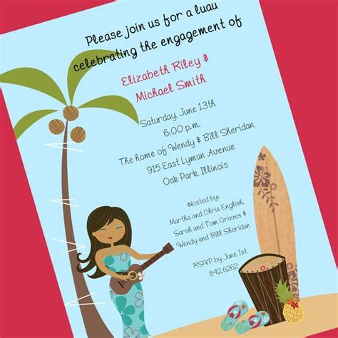 Honeymoon Bridal Shower Invitation Wording by Luau Bridal Shower Invitation Printable Invitation Design