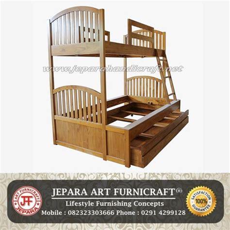 Tempat Tidur Kayu 2 Tingkat diskon tempat tidur anak tingkat kayu jati murah