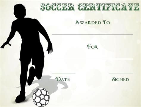 templates for soccer awards 30 soccer award certificate templates free to download