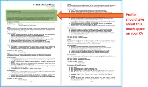 how to write a killer cv profile cv writing advice