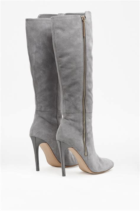 gray boots connection molly suede knee high boots in gray