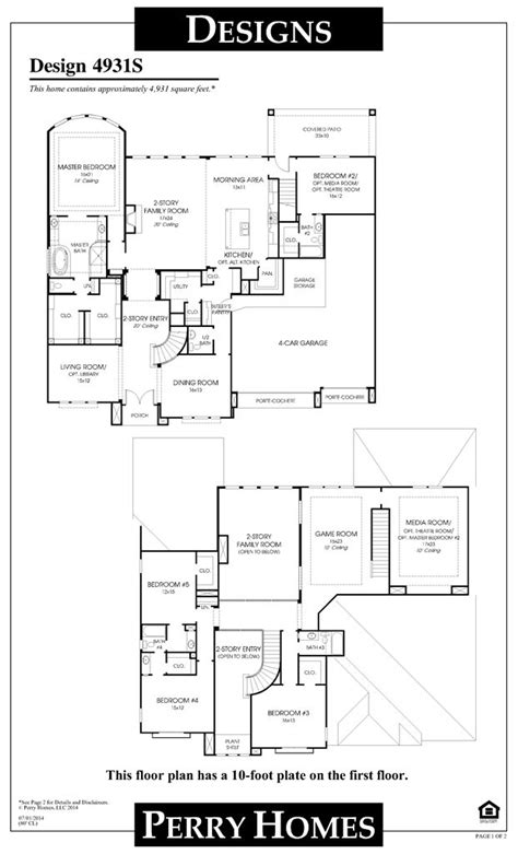 perry home plans perry homes floor plan for 4931s home pinterest