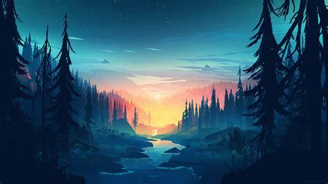 Wallpaper Memory, Forest, Minimal, HD, Creative Graphics