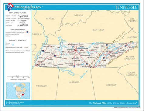 tennesse map map of tennessee tennessee maps mapsof net