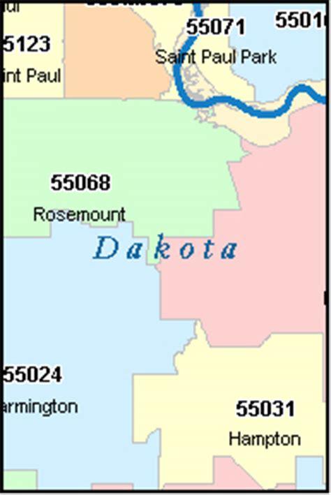 dakota zip code map dakota county minnesota digital zip code map
