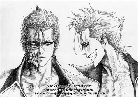 grimmjow portraits front and profile by blackstorm on deviantart
