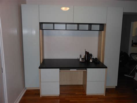 wall unit desk in ny home office