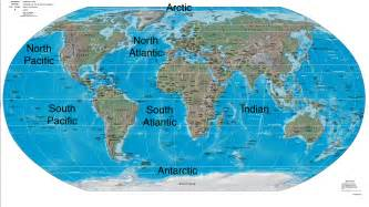 World Ocean Map by Pics Photos Oceans Of The World Map