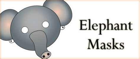 printable animal masks elephant printable animal masks elephant mask woo jr kids