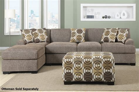 montreal sectional sofa poundex montreal iii f7448 f7450 beige fabric sectional