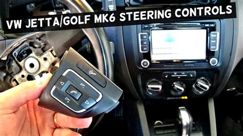 vw jetta mk steering wheel controls removal replacement