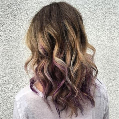 short hairstyles with peekaboo purple layer 35 gorgeous peekaboo highlights to enhance your hair