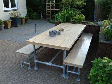 outdoor picnic table outdoor picnic table made with kee kl pipe fittings