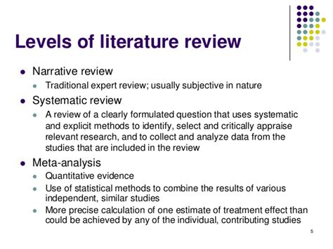 Meta Analysis Vs Review Of Literature by Systematic Review