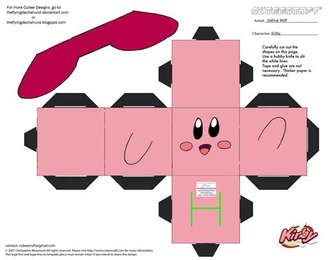 Make Papercraft - vg13 kirby cubee by theflyingdachshund on deviantart