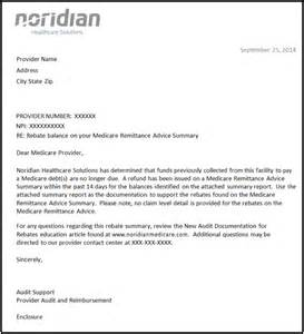 Certification Reimbursement Letter Rebate Summary Letters Noridian