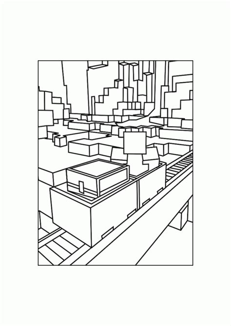 best free print to pdf best minecraft rails coloring pages free printable