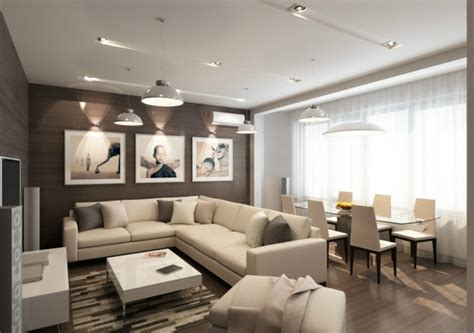 Beau Chaises Salle A Manger Moderne #4: salon-salle-manger-canap%C3%A9-angle-chaises-blanc-cass%C3%A9.jpg