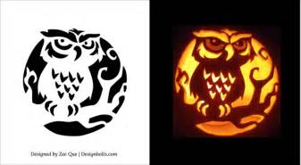 free printable scary pumpkin carving pattern designs scary owl pumpkin carving stencils patterns ideas 07