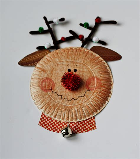 Crafts Made With Paper Plates - paper plate characters santa rudolph snowman