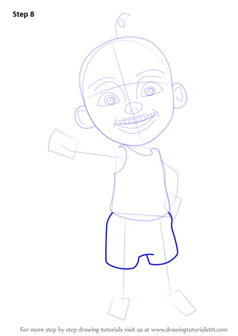tutorial upin ipin flanel learn how to draw upin from upin ipin upin ipin step