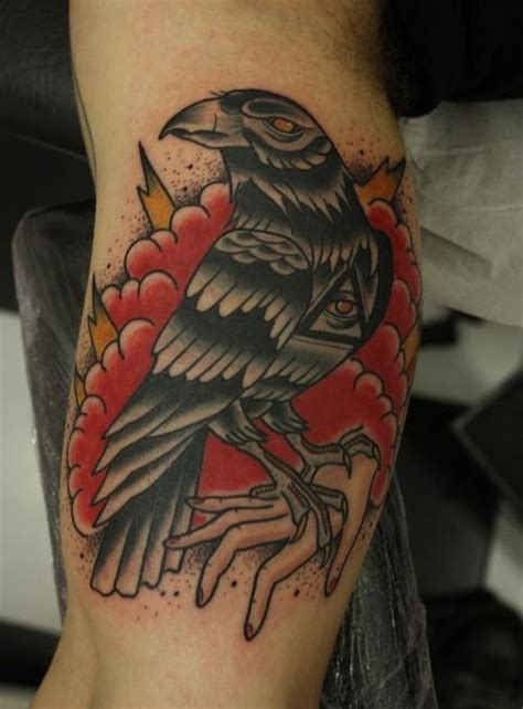 traditional crow tattoo tattoos best 34 ideas in school style 2018
