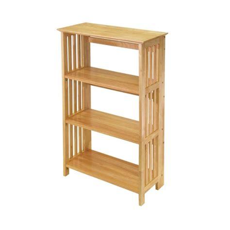 Folding Shelf by Winsome Wood Mission 4 Tier Folding Shelf Wood 82427