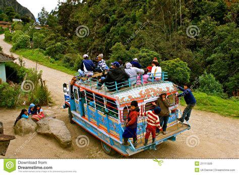 transporte del 2016 en colombia transporte p 250 blico en colombia rural imagen de archivo