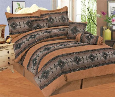southwestern comforter set new brown indian southwestern style comforter set queen ebay