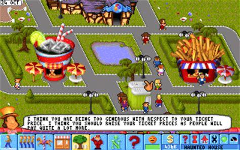 theme park pc game download theme park abandonia