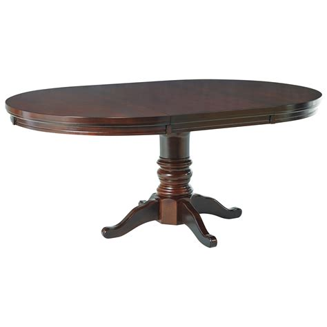 Porter Dining Table Furniture Porter Dining Room Pedestal Table With Leaf Olinde S Furniture Dining