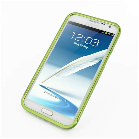 Bumper Alumunium Slide For Samsung Galaxy Note2 N7100 Frame samsung galaxy note 2 aluminum metal bumper green pdair