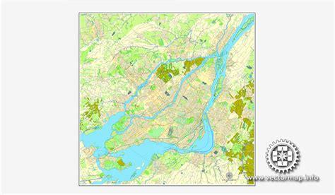 printable map montreal montreal map for adobe illustrator printable city plan
