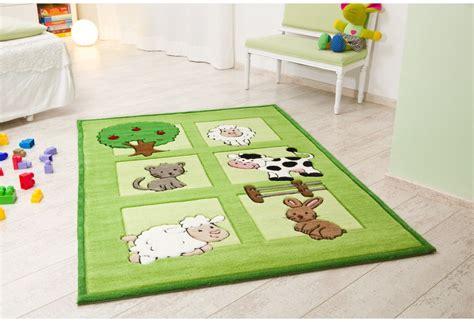 kinderzimmer teppich grun kelii kinder teppich bauernhof gr 252 n teppich kinderteppich