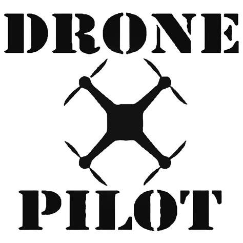 Stiker Drone Pilot drone pilot sq decal sticker