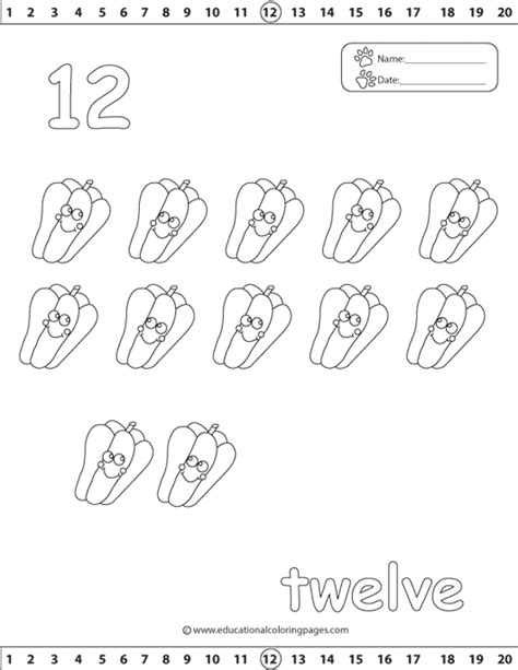 coloring page number 12 number 12 coloring page getcoloringpages com