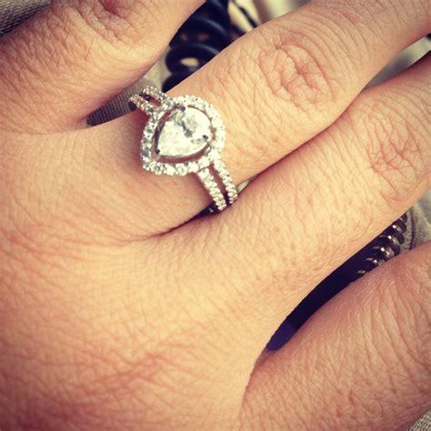 tear drop engagement ring weddings