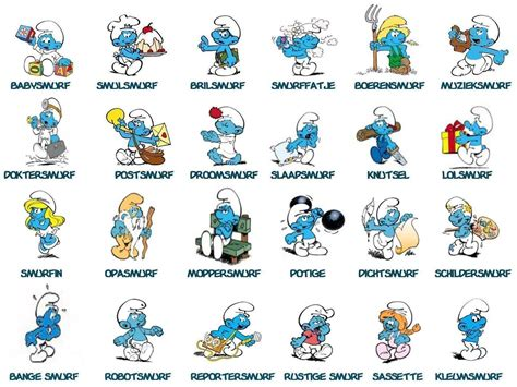 smurfs names pictures to pin on pinterest pinsdaddy