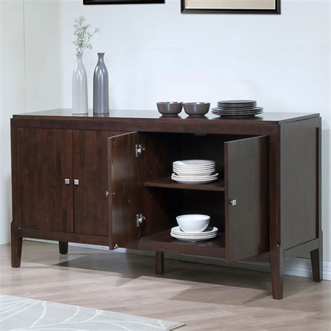 axis espresso finish buffet contemporary buffets and