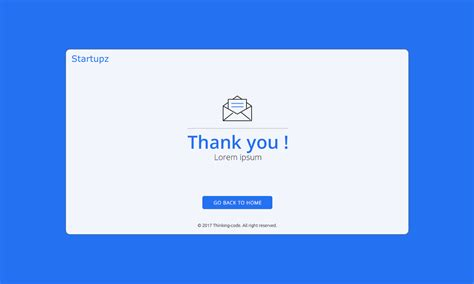 thank you page templates startupz one page psd template by thinkingcoder