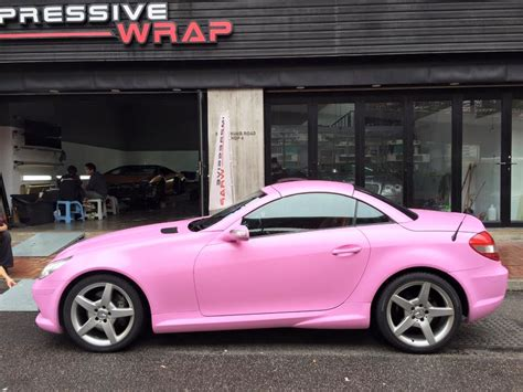 pink mercedes what do you think of this bubblegum pink mercedes slk